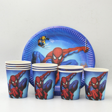 20pcs/set Plate/Cup Spiderman Birthday Decoration accessories favors supplies spiderman party plates cups