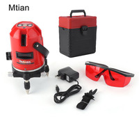 Mtia Automatic 5 Lines 6 Points Laser Level Tilt Function 360 Rotary Self Lleveling Cross Outdoor