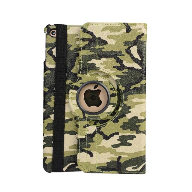 360 Degree Rotating Print Camouflage Flip Stand PU Leather Cover For Ipad Mini 1 2 3 7.9