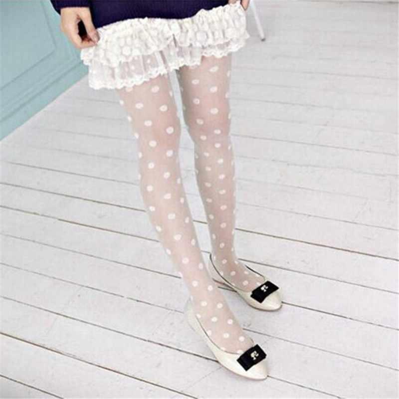 אופנה עם תחרה רשת דייגים נשי גרבי נשים סקסי Sheer תחרה גרביונים פאנק חמוד גרביונים נקודות גדולות גרביונים גרביים #20