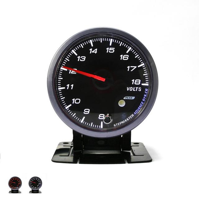 60 MM NO LOGO Volts gauge Negro/Blanco Cara medidor de Voltaje Voltímetro con Ámbar y Blanco Iluminación/coche medidor de 12 V Coche
