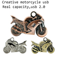 Pen Drives Metal Cool Motorcycles USB Flash Drive 32GB 16GB 8GB 4GB keychain U Disk pendrive bronze moto cool gift free shipping