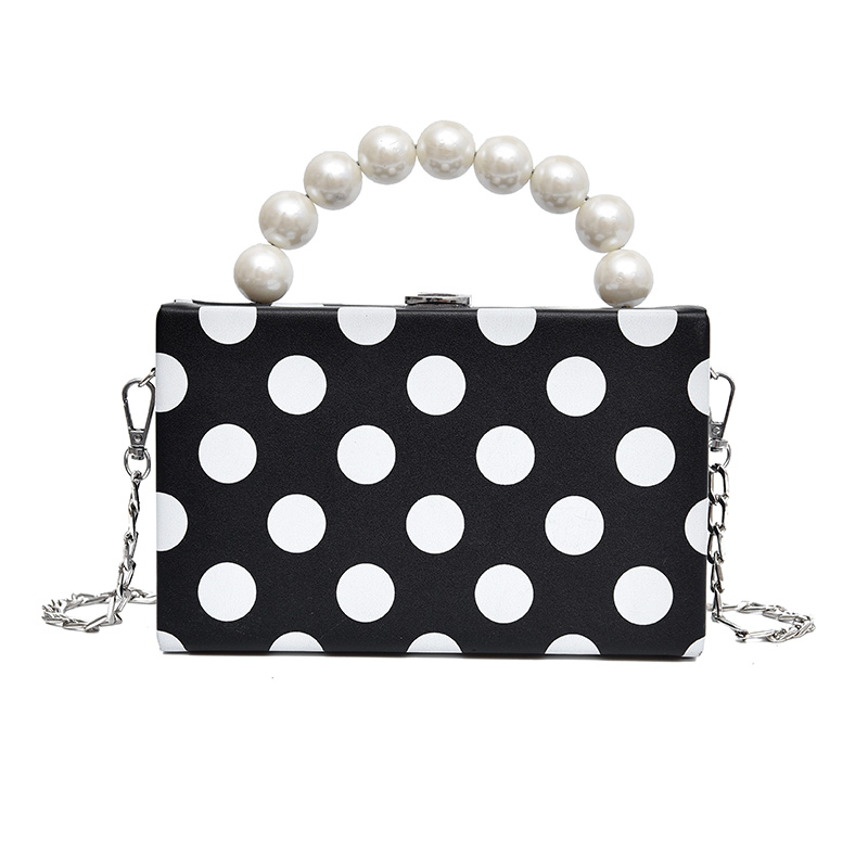 Fashion Women Handbags Cute Polka Dots With Pearl Handle Bags Lady New Design S Shoulder Diagonal Quality In Top From