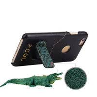 PCOL Crocodile Pattern For Iphone 6 6s Plus 7 7 Plus Case Hard Genuine Leather Covers