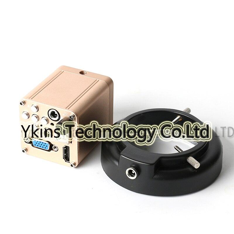 HD 1080P 1920x1080 40FPS HDMI VGA USB Digital Industrial Camera Camera + Adjustable LED Ring Light