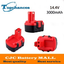3X Newest BAT038 14.4V 3000mAh NI-MH Rechargeable Power Tools Battery Cordless Drill Replacement for Bosch 3660CK BAT040