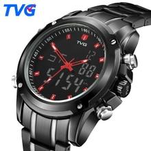 TVG Hommes Montres Top Marque De Luxe Quartz Montre Hommes Sport Horloge Hommes Numérique LED Montre Militaire de L'armée Montre-Bracelet Relogio Masculino