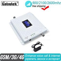 Darmowa wysyłka mobilny wzmacniacz tri-band 2G 3G 4G Repeater 900 2100 FDD 2600 B7 DCS WCDMA Repeater LTE wzmacniacz sygnału komórkowego 35