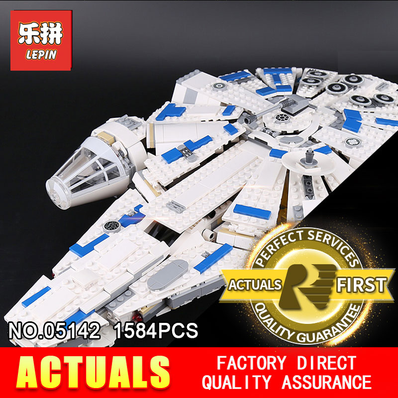 LEPIN 05142 STAR Building Blocks Force Awakens Kessel Run Millennium 75212 Toys Falcon Model Kids Toy Christmas Gift WARS dhl lepin 05142 star building blocks force toy awakens millennium kids toys falcon model legoings 75212 birthday christmas gifts