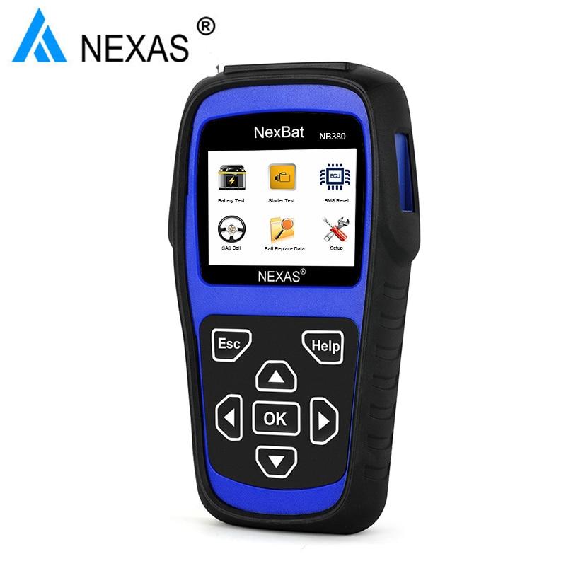 2018 NEW Original NEXAS NB380 Car Diagnostic Tool 12V/24V Battery Tester Starter & Charging System Scanning Tool цена
