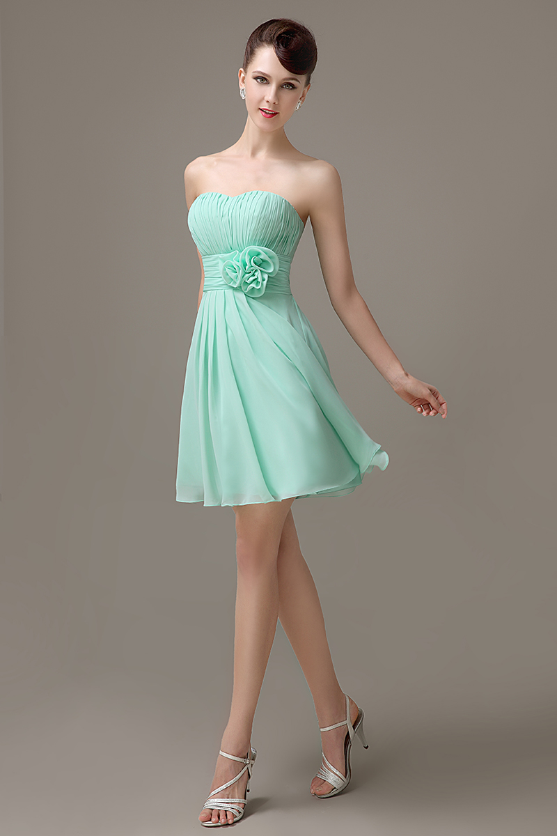 Mint green chiffon short strapless bridesmaid dress simple cheap mint green chiffon short strapless bridesmaid dress simple cheap junior customized bridesmaid dress for girls bd432 in bridesmaid dresses from weddings ombrellifo Choice Image