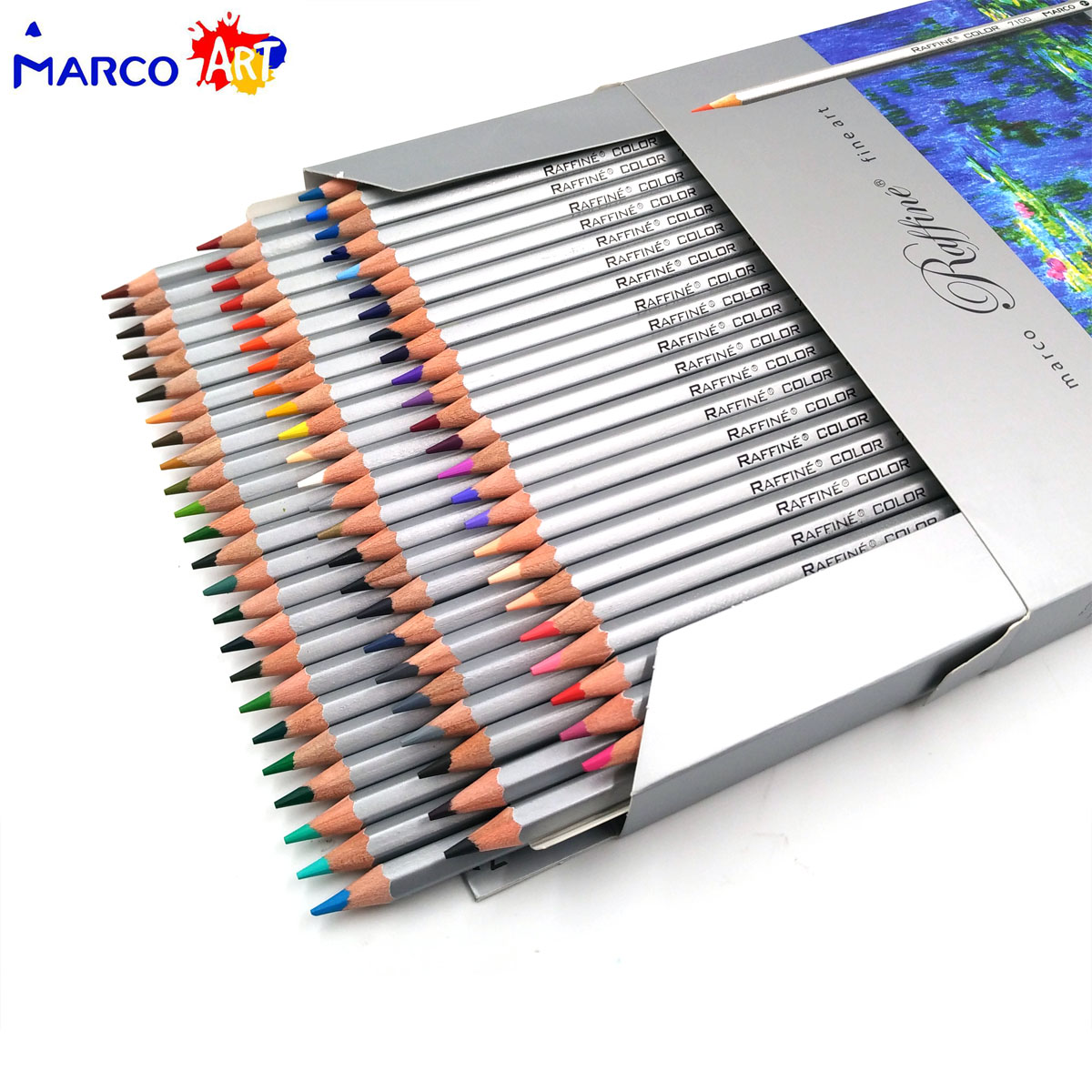 Lápis de cor Marco Raffine 72 Cores Desenho Esboços lapis de cor profissional Jardim Secreto Para Colorir Lápis Material Escolar