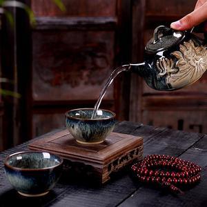 Image 3 - Keramik Teekanne Porzellan Kung Fu Tee Set Teekannen Wasserkocher Chinesischen Stil Tee Topf Home Restaurant Hotel Wasser Krug Krug Teegeschirr