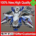 Blue white 7gift  For SUZUKI GSXR1000 GSXR-1000 09 10 11 12 13 90MC21 K9 GSXR 1000 GSX R1000 2009 2010 2011 2012 2013 Fairing