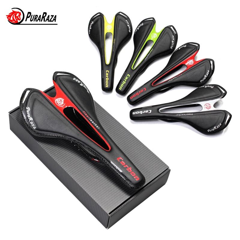 Famous Brand Full Carbon Fiber Road Mountain Bike Saddle / Carbon Fiber Saddle / Seat Bag Handle / fork / Leader / cup frame 95G