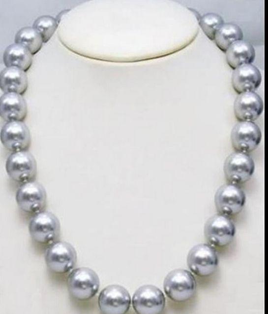 Elegant11-12mm collier de perles deau douce en argent naturel gris 18inch925silverElegant11-12mm collier de perles deau douce en argent naturel gris 18inch925silver