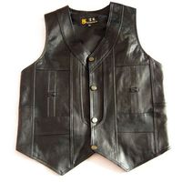 2017 male leather vest sheepskin men's vest the elderly spring and autumn casual vest