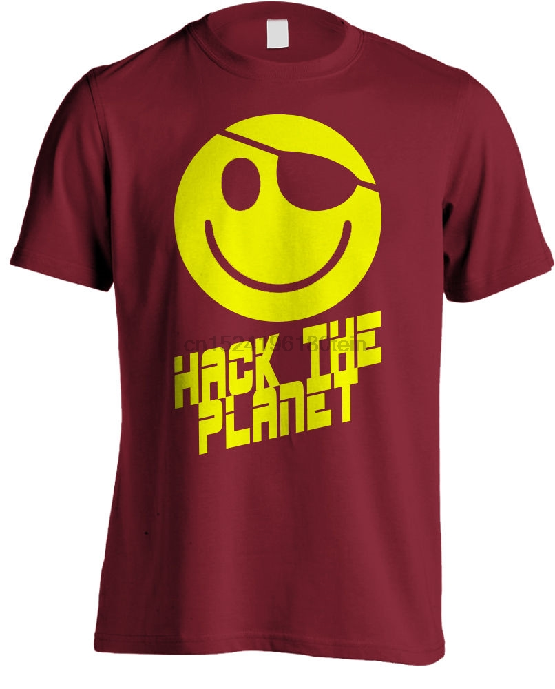 595fb2dbf Hackers Movie Hack the Planet Movie T shirt-in T-Shirts from Men's Clothing  on Aliexpress.com | Alibaba Group