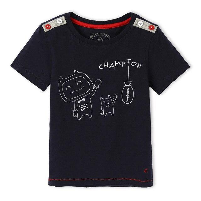 Бесплатная доставка! Разработан премиум 100% хлопка-джерси с кот печать футболка с коротким рукавом мальчика. Эксклюзивный