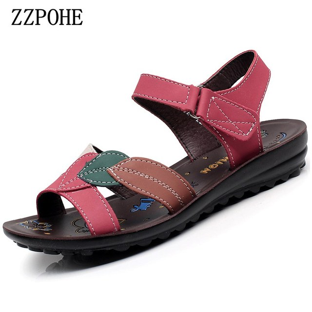 best website 48104 ecaf0 ZZPOHE-Summer-new -mother-sandals-soft-soles-comfortable-Ladies-fashion-PU-leather-sandals-Women-Sandals-Plus.jpg 640x640.jpg