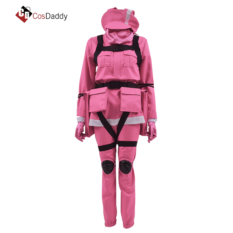 Gun Gale Online Cosplay Costume VRMMO GGO Pitohui BoB Sword Art Online SAO Pink Clothes Hot Game CosDaddy