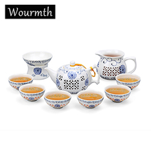 Wourmth 2017 neue ankunft keramik teekanne wasserkocher gaiwan fisch teetasse porzellan chinesischen kung fu tee-set