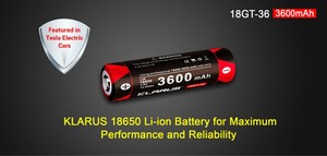 Image 5 - 2pcs KLARUS 18650 3600mAh 18GT 36 3.6V  Li ion Battery high performance 18650 li battery