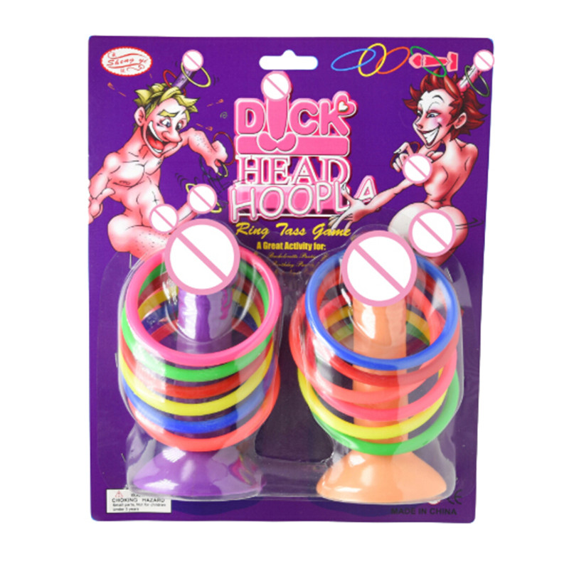 DICKHEAD HOOPLA GAME Giant Cocks Adult Fun Ring Toss Hen Stag Party Toy Gift UK