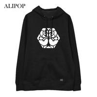 ALIPOP Kpop EXO The Elyxion Album Hoodie Hip Hop Casual Cotton Hoodies With Hat Pullover Printed