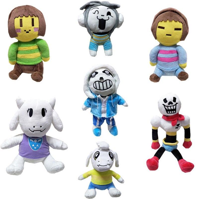 13 Styles de jouets en peluche de conte de fées poupée 20-40 cm Sans Papyrus Asriel Toriel Temmie Chara Frisk jouets en peluche en peluche pour les enfants