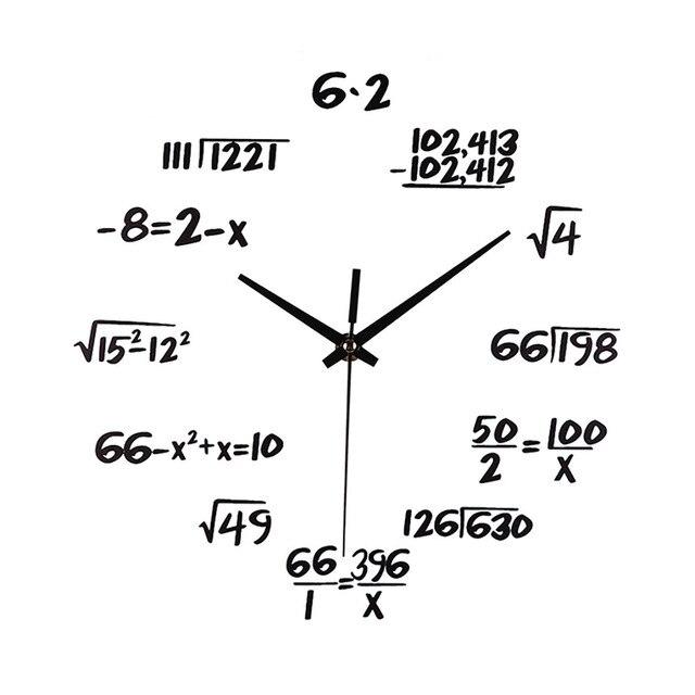 Matematika Jam Dinding Jam Kuarsa Bisu Ruang Tamu Dekorasi Gantung Ornamen  2018 Hot 15 1f14d9c12b
