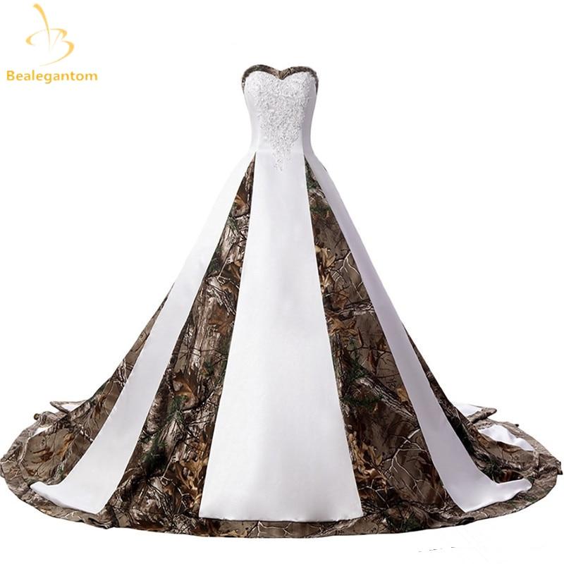 2019 gaun pengantin seksi baru dengan appliques, Bola gaun, Kamuflase - Gaun pengantin