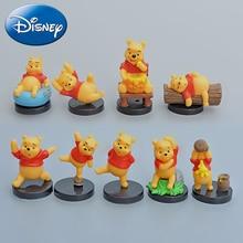 лучшая цена Disney 9 pcs/lot 3-5 cm Winnie the Pooh Clubhouse Action Figures Set Winnie PVC Dolls Girls Boy Toy Figures Kids Gift Decoration