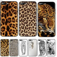 Mobiele Telefoon Case Voor Iphone 11 Pro Xr X Xs Max Iphone 6 6S 7 8 Plus 5 5S Se Cover Luipaard Print Tas Shell Behuizing(China)