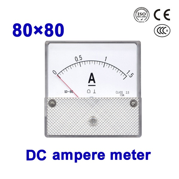 analog panel meter current meter 80 80mm Moving Iron Instruments DC ampere meter