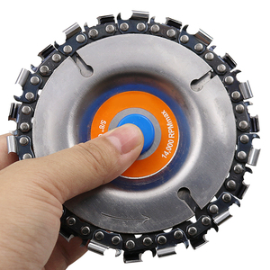Image 5 - 4 Inch Grinder Disc and Chain 22 Tooth Fine Cut Chain Set For 100mm Angle Grinder