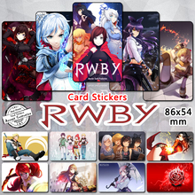 65 pcs lot RWBY Credit Card Stickers Girl Characters Ruby Weiss Blake Yang 2017 Volume