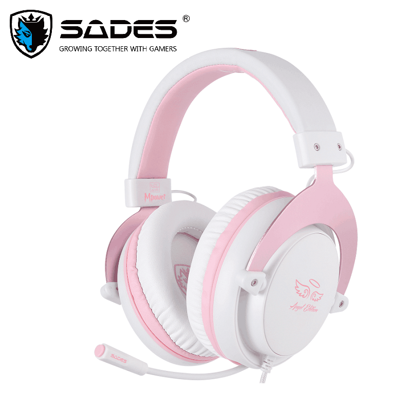 SADES Gaming Headset Headphones 3.5mm Mpower For PC/Laptop/PS4/Xbox One(2015 version)/Mobile/VR/Nintendo Switch image