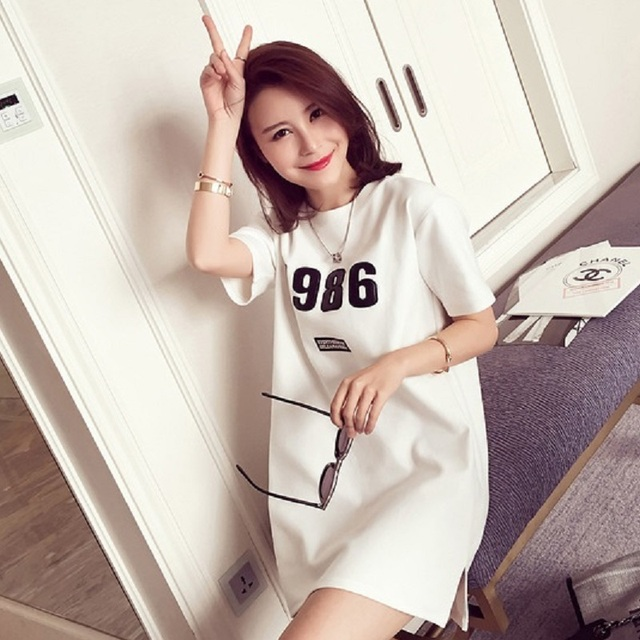 2016 New summer women's T shirts knitted elastic clothing maternity t shirts pregnancy dresses maternity summer clothing 16702