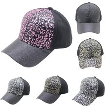 Feitong 2018 Fashion Summer Cap Women Man Cartoon Adjustable Letters Sequins Cap Lovely Mesh Baseball Hats dropshipping(China)