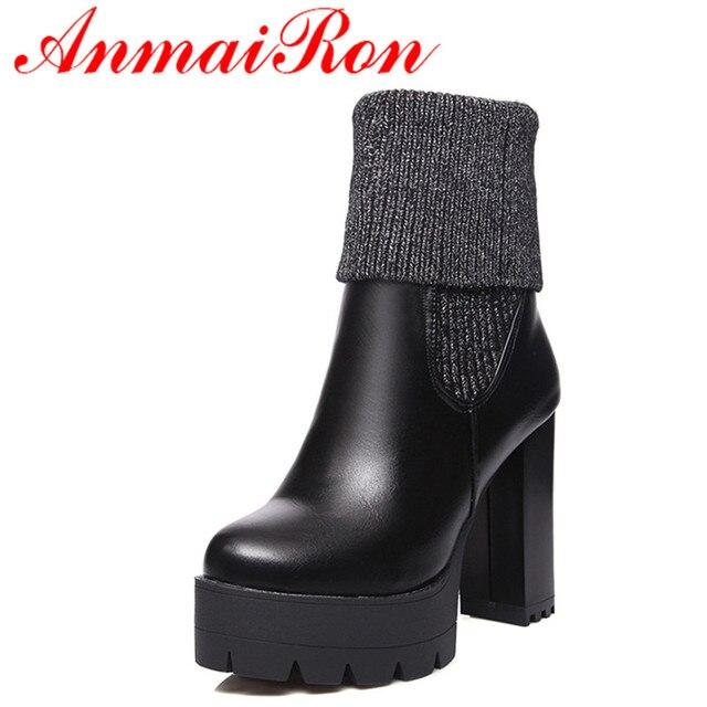 Góra ANMAIRON 2 nosić wysokie obcasy klasyczne czarne buty kobieta XI99