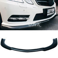 UHK Accessories For E Class W212 Sport Style Carbon Fiber Front Bumper Lip Spoiler Car Bumpers Splitter Diffuser