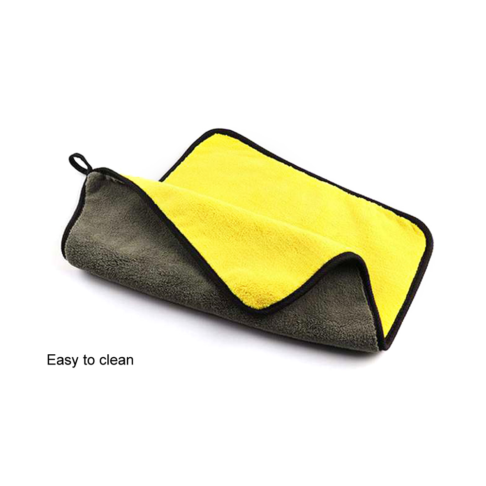 Image 5 - 30*30/60CM Car Wash Towel Microfiber yellow gray sides Cleaning Drying Towe Coral velvet double sided designCar Wash Towel-in Sponges, Cloths & Brushes from Automobiles & Motorcycles