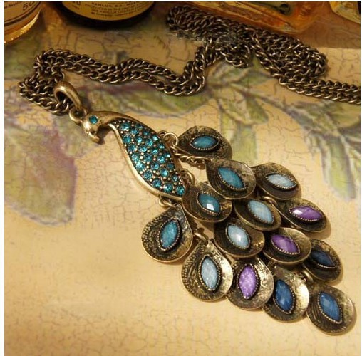 N188 Hot!! New Design Peafowl Necklace Fashion Vintage Jewelry Accessories Wholesale