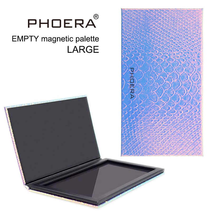 PHOERA Eyeshadow Magnetic Attraction Storage Box Eye Shadow Makeup Pallete Empty Case Magnetic Palette Glitter Patterns TSLM2