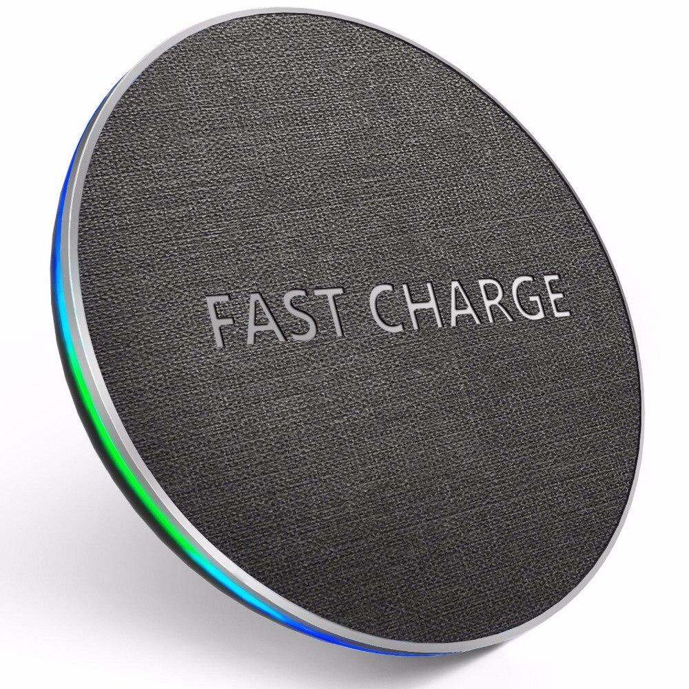 GETIHU 10 W Qi rápido cargador inalámbrico para iPhone X XR XS MaX 8 Samsung Nota 8 S8 S9 Plus s7 S6 borde teléfono inalámbrico de carga
