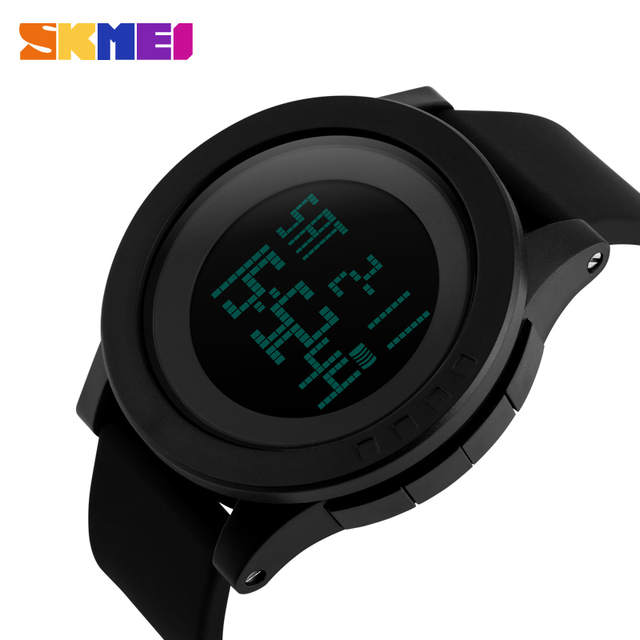 cf5abf6ee44 SKMEI 1142 Homens Esportes Militares Relógios Moda Silicone À Prova D  Água  LED Digital Relógio