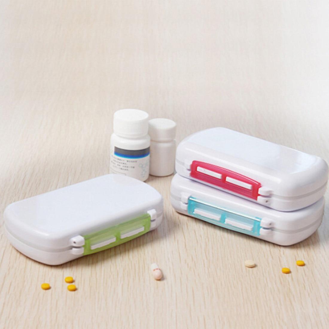 Cute Mini 6 Slots Portable Medical Pill Box Drug Tablet Medicine Storage Dispenser Holde ...