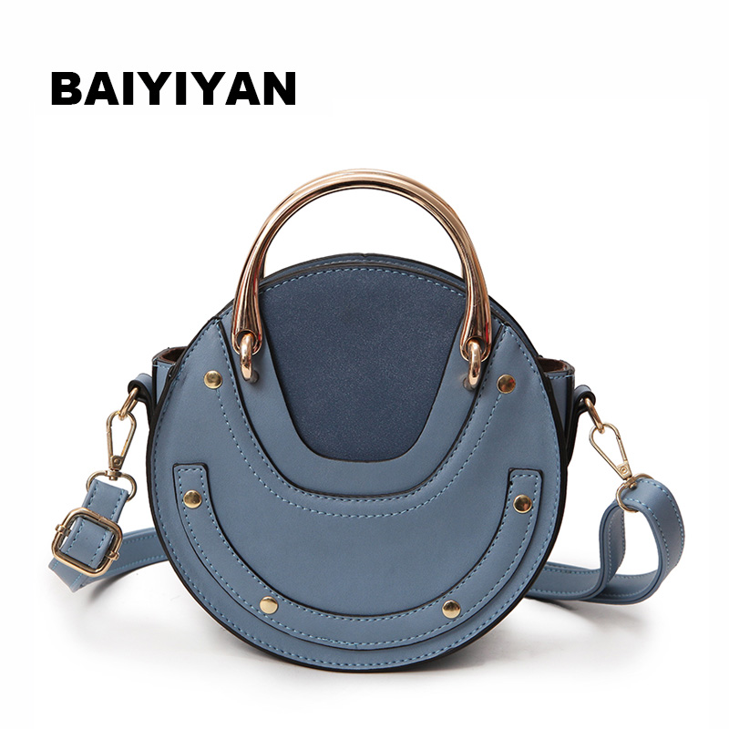 New Fashion Mini PU Leather Handbag One Shoulder Cross-body Bag Small Round Package Women bag