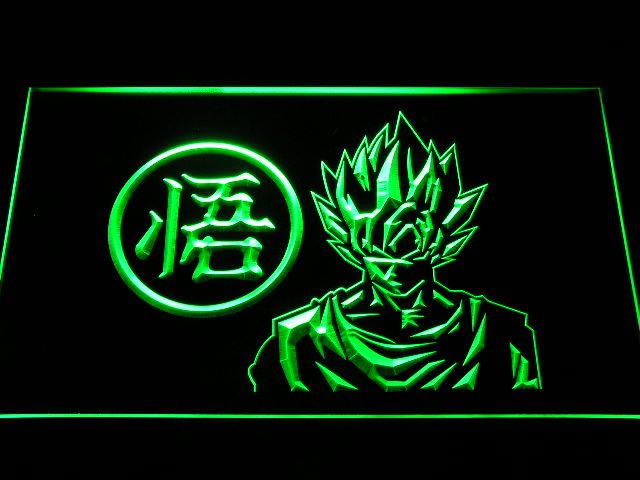 g256 Dragon Ball Z GT Super Saiya Son Goku LED Neon Sign with On/Off Switch 20+ Colors 5 Sizes to choose